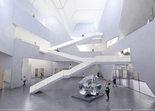 Le hall central du Musée des Collectionneurs